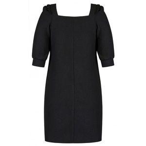 City Chic Darling Sleeve Dress Shift Black Square
